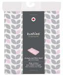 Kushies Flannel Change Pad Fitted Sheet Petal Grey