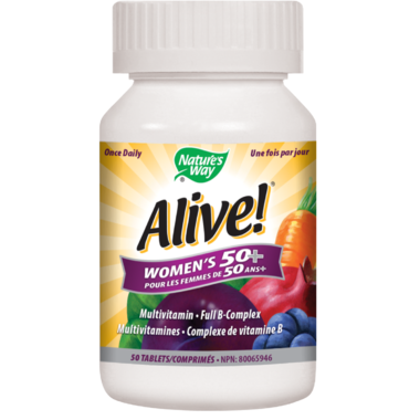 Nature\'s Way Alive! Women\'s 50+ MultiVitamin & Full B Complex