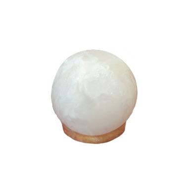 Lumiere de Sel White Himalayan Salt Crystal Sphere Lamp