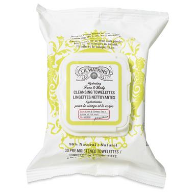 J.R. Watkins Aloe & Green Tea Face & Body Cleansing Towelettes