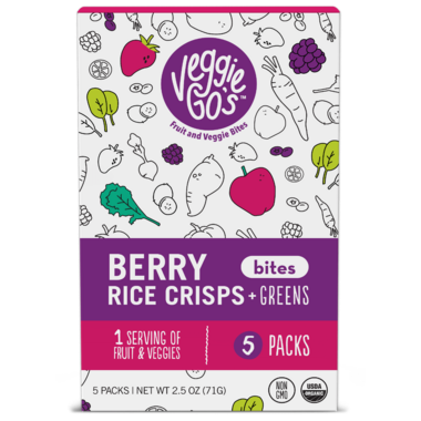 Veggie Go\'s Berries, Rice Crisps and Green Bites
