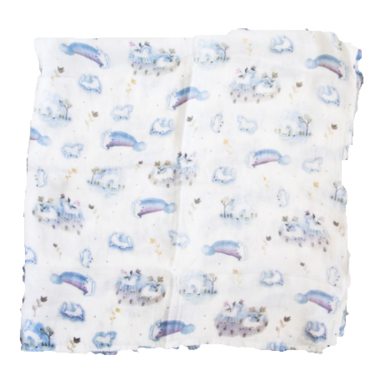 Loulou Lollipop Luxe Muslin Swaddle Blanket Unicorn
