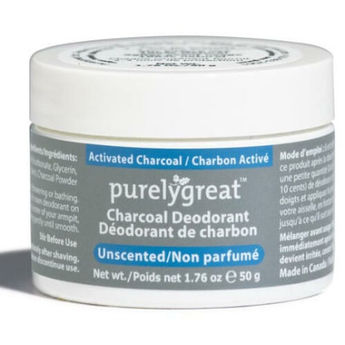 Purelygreat Unscented Charcoal Cream Deodorant