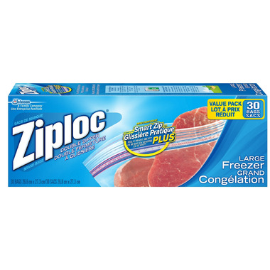 Ziploc Smart Zip Large Freezer Bags