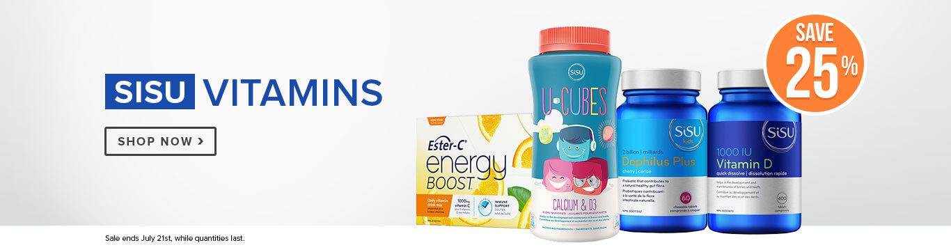 Save 25% on Sisu Vitamins
