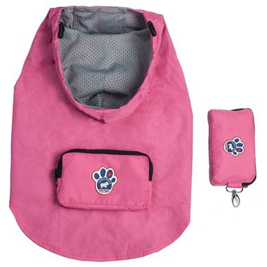 Canada Pooch Pacific Poncho in Pink Sizes 10-20