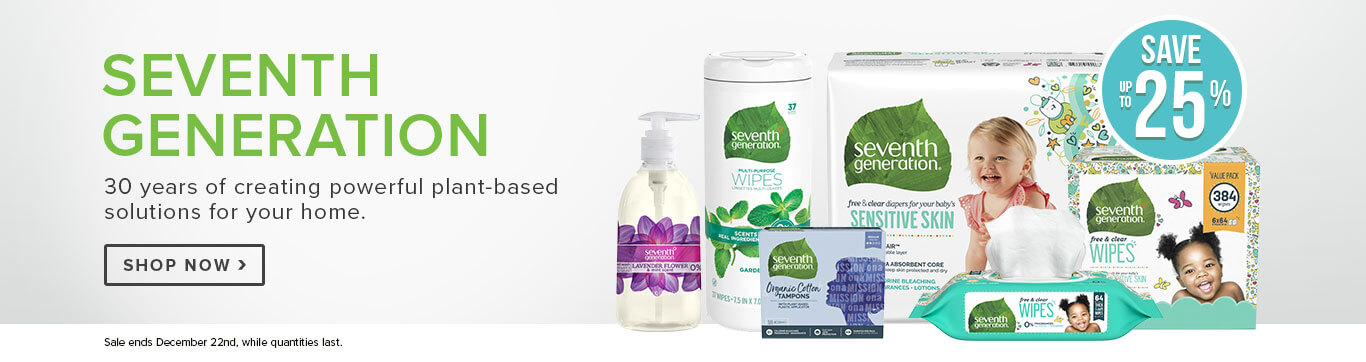 Save up to 25% on Seventh Generation