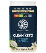 Sunwarrior Clean Keto Protein Peptides Tropical Vanilla