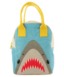 Fluf Shark Zipper Organic Lunch Bag