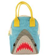 Fluf Shark Zipper Organic Lunch Bag