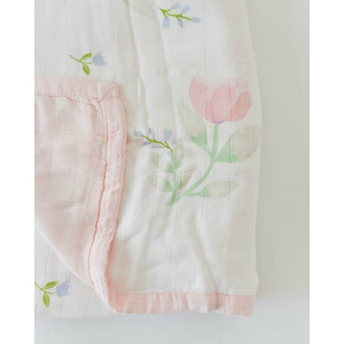 Little Unicorn Deluxe Muslin Quilt Pink Peony