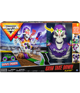 Monster Jam Grim Takedown Playset with Lights and Sounds