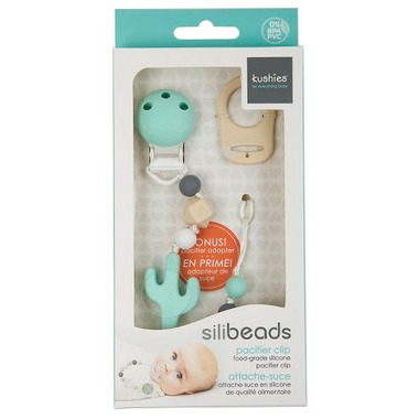 Kushies SiliBeads Silicone Pacifier Clips Cactus
