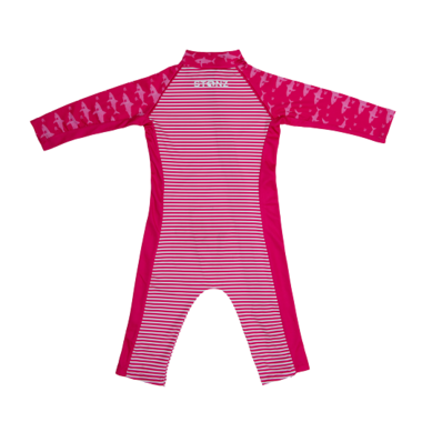 Stonz Infant Sun Suit Fuchsia Shark