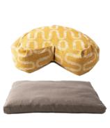 Halfmoon Yoga Mushroom Sit Set with Curved Meditation Cushion Bundle