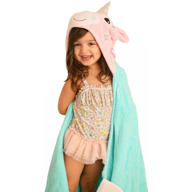 ZOOCCHINI Toddler Hooded Towel Allie the Unicorn