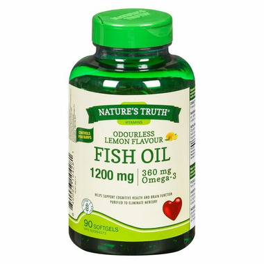 Nature\'s Truth Odourless Fish Oil 1200 mg and Omega-3 360 mg