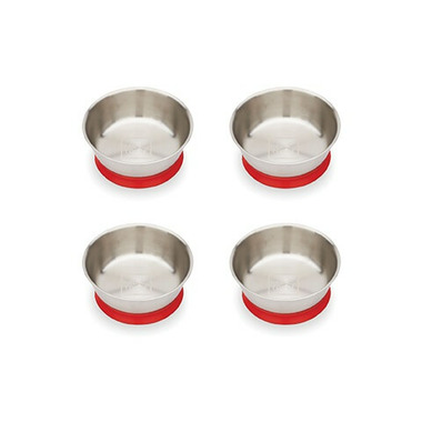 Red Rover Stainless Steel Bowls with Suction Base