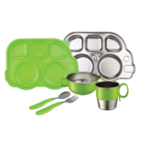 Innobaby Din Din Stainless Mealtime Set Green