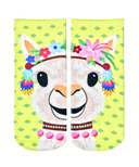Living Royal Ankle Socks Party Llama Glitter