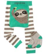 ZOOCCHINI Crawler Legging/Sock Set Silas the Sloth