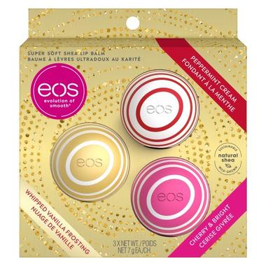 EOS Peppermint Cream Whipped Vanilla Frosting & Cherry & Bright Lip Balm