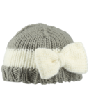 Bedford Road Grey Knitted Hat With Bow