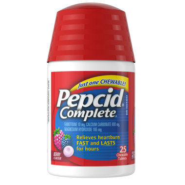 Pepcid Complete Chewable Berry Tablets