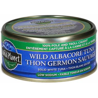 Wild Planet Wild Albacore Solid White Tuna Low Sodium