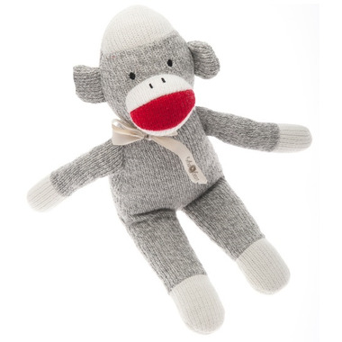 Beba Bean Sock Monkey Rattle