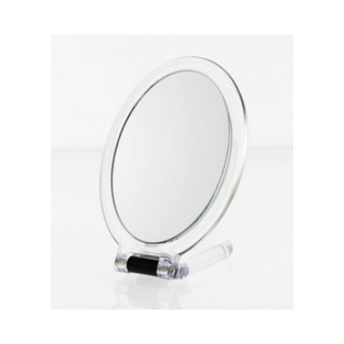 Danielle Creations Ultra-Vue Oval Folding Hand Held Mirror