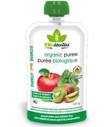 Bioitalia Apple Kiwi Spinach Organic Puree Smoothie