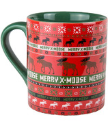 Hatley Little Blue House Ceramic Mug Merry X-Moose