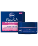Nivea Essentials 24h Moisture Boost + Nourish Night Cream for Dry Skin