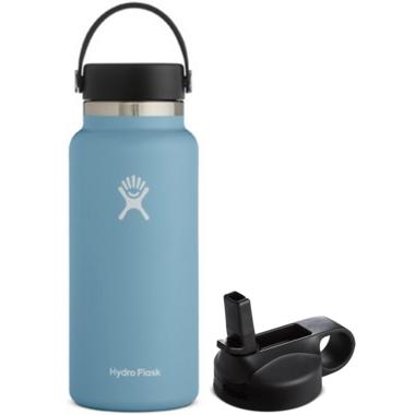 Hydro Flask Wide Mouth With Flex Cap Rain + Straw Lid Bundle
