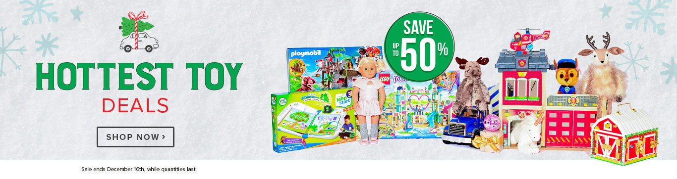 Save up to 50% on the Hottest Toy Deals