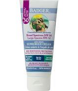 Crème solaire au zinc clair de Badger FPS 30