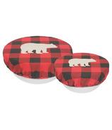 Now Designs Bowl Covers Set Buffalo Check Bear