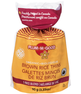 Plum.M.Good Organic Brown Rice Thins 5 Rice Blend