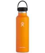 Hydro Flask Standard Mouth avec Flex Cap Clémentine