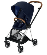 Cybex Mios Chrome Brown Frame with Indigo Blue Seat Pack