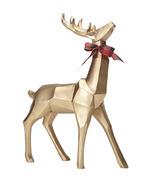 Harman Geometric Standing Reindeer Large Gold