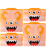 Russbe Reusable Snack and Sandwich Bags Orange Monster