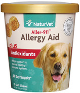 Naturvet Aller-911 Allergy Aid Plus Antioxidants Soft Chews