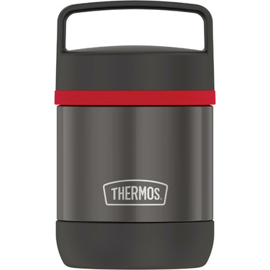 Thermos Insulated Food Jar with Handle Black