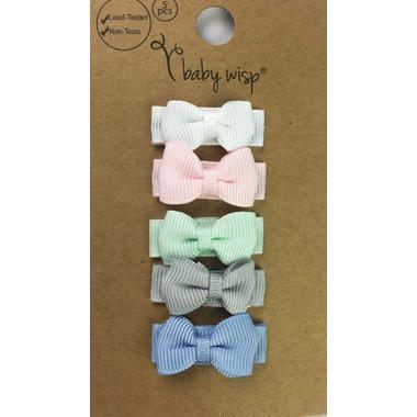 Baby Wisp 5 Tuxedo Bows Snap Fairy Tale
