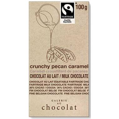 Galerie au Chocolat Pecan Caramel Crunch Milk Chocolate Bar