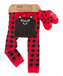 ZOOCCHINI Comfort Crawler Legging & Sock Set Bosley the Bear