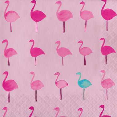 Elsie Tropical Luncheon Napkin Lets Flamingle