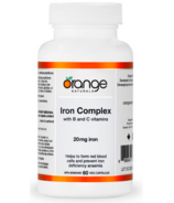 Orange Naturals Iron Complex 20mg